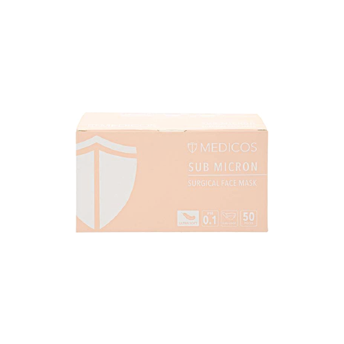 Medicos 3ply Peach Surgical Face Mask