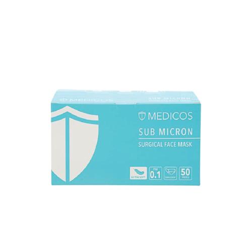Medicos 3ply Sea Blue Surgical Face Mask